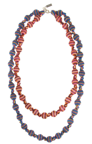V&A double strand woven necklace