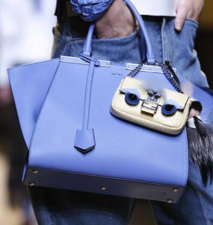 Trois jours bag with python baguette micro bag