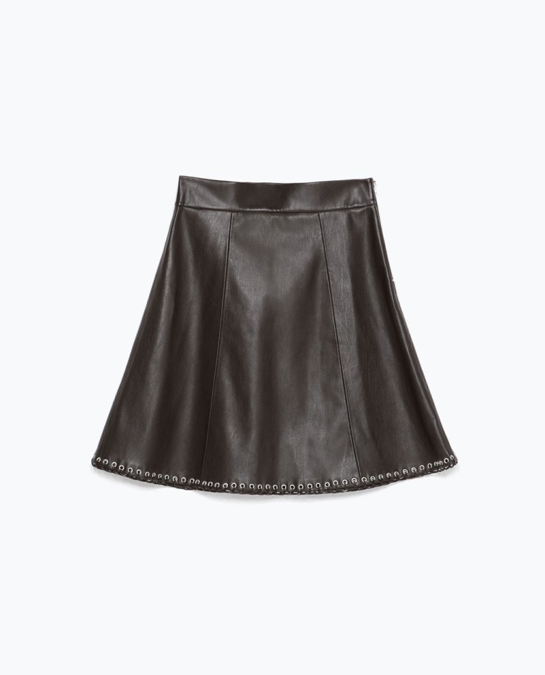 mini skirt with hem details