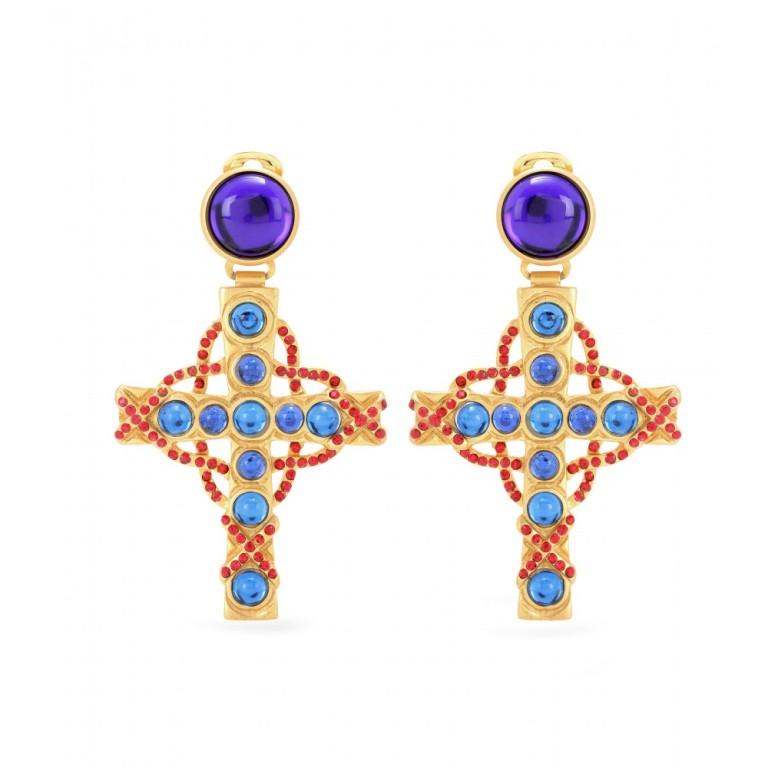 Gold tone clip on earrings