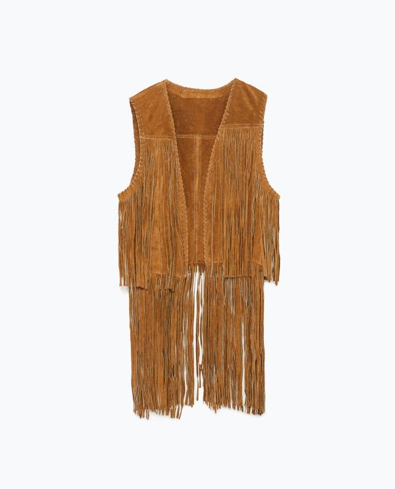 leather waistcoat - zara