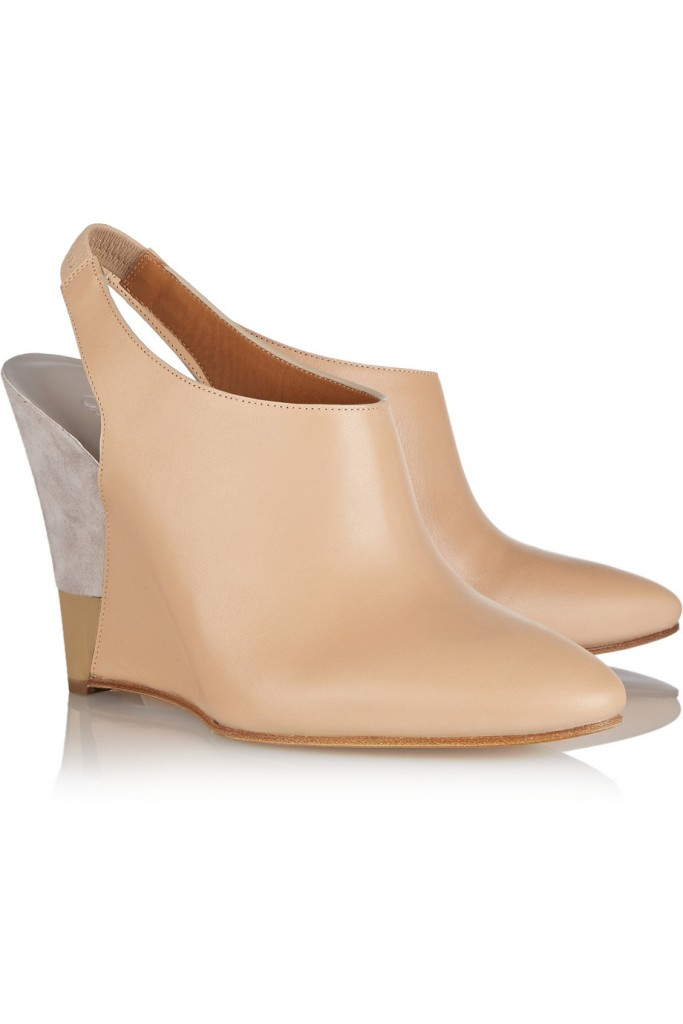Chloe wedge leather pumps