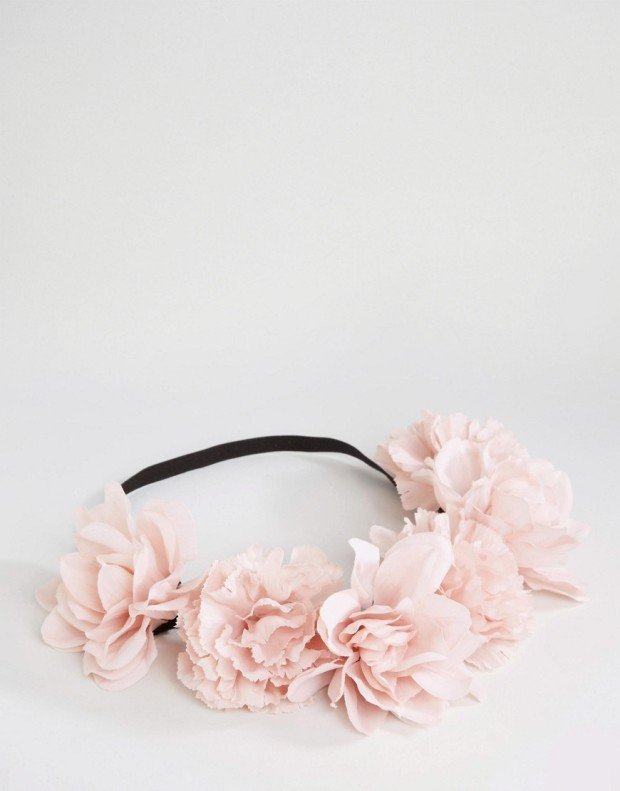 blush flower hair garland asos