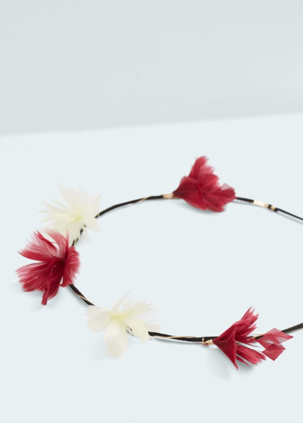 feather headband mango