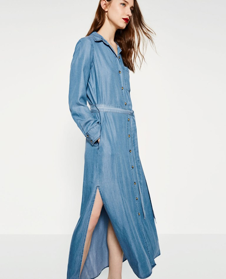 Long Denim Dress